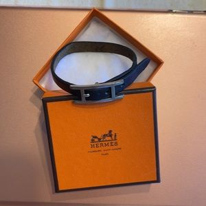 Hermès Api Leather Wrap Belt Buckle Bracelet
